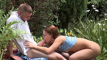 ROUGH SEDUCING BLOWJOB IN THE WOODS  Honey Poison