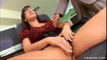 business woman before work - she wants juicy cum on her tits for the office